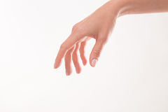 Woman's hand as if holding something Stock Photo
