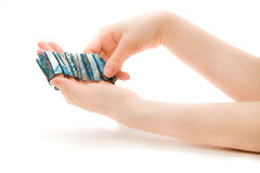 Woman's hand with bracelet Royalty Free Stock Image