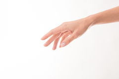 Woman's hand demonstrating perfect skincare Royalty Free Stock Image