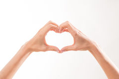 Woman's hand demonstrating romantic relations Stock Photography