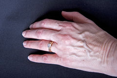 Woman's Hand with Diamond Ring Royalty Free Stock Photography