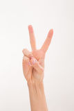 Woman's hand expressing success Royalty Free Stock Images