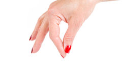 Woman's hand, gesture Stock Photo