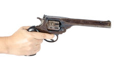 Woman's hand with gun Royalty Free Stock Photography