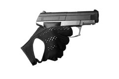 Woman's hand with a gun Royalty Free Stock Image