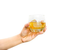 Woman's hand holding a glass of wine. Royalty Free Stock Photos