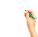 Woman's hand holding a pencil Royalty Free Stock Photography