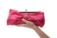 Woman's hand holding a pink bag Stock Photography
