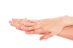 Woman's hand isolated Stock Photography