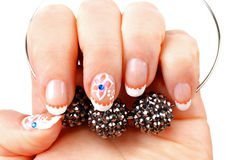 Woman's hand with  manicure Royalty Free Stock Images