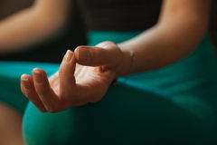 Woman's Hand in Meditation Pose Royalty Free Stock Image