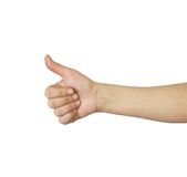 Woman's hand, thumbs up Royalty Free Stock Photo