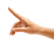 Woman S Hand Touching Or Pointing To Something Royalty Free Stock Photo