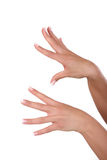 Woman's hands. Woman showing her hands and nails Stock Photo