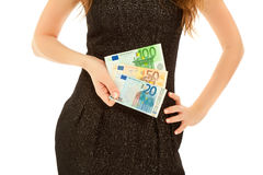 Woman's hands with banknotes Stock Image