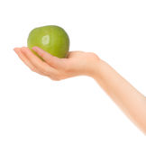 Woman's hands holding apple Royalty Free Stock Photography