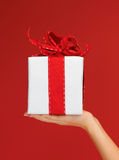 Woman's hands holding a gift box Royalty Free Stock Image