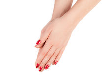 Woman's hands isolated Royalty Free Stock Photo