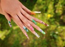 Woman's hands with manicure Royalty Free Stock Photo