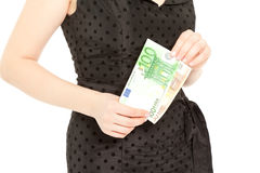 Woman's hands with money Stock Image
