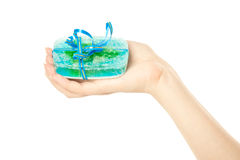 Woman's hands with soap Stock Image