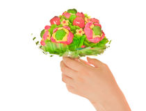Woman's hands  with sweet flower Stock Photo