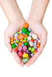 Woman's hands with sweets Royalty Free Stock Image
