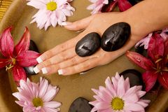 Woman's hands in water Royalty Free Stock Photo