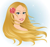 Woman's head. Royalty Free Stock Images