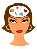In woman´s head Royalty Free Stock Photo
