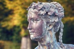 Woman`s head sculpture Stock Image