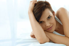 Woman's Health. Smiling Woman With Beautiful Face Skin. Beauty Stock Images