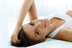Free Woman S Health. Smiling Woman With Beautiful Face Skin. Beauty Royalty Free Stock Images - 74382269