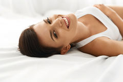 Free Woman S Health. Smiling Woman With Beautiful Face Skin. Beauty Royalty Free Stock Image - 74382626