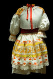 Woman's holiday clothing. Traditional woman's holiday clothing from Slovakia on black background Stock Image