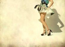 Woman's leg and high heel shoes Stock Image