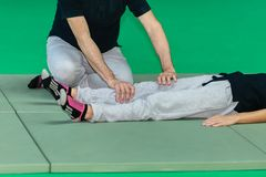 Woman s Leg Muscle Professional Massage Treatment:Fitness and Wellness.  stock photo