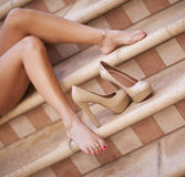 Woman's legs Stock Image