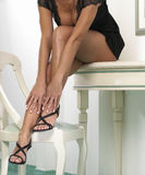 Woman's legs Royalty Free Stock Photography