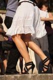 Woman's legs closeup Stock Images