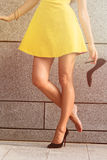 Woman's legs in full length Stock Images