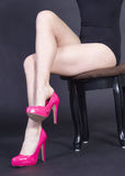 Woman's Legs in Heels Royalty Free Stock Images