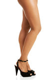 Woman's legs and high heel shoes Royalty Free Stock Photography