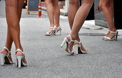 Woman's legs in high heels Royalty Free Stock Photography