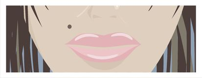 Woman's lips Stock Photos