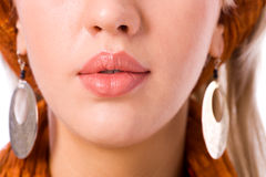 Woman's Lips Royalty Free Stock Photography