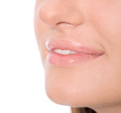 Woman's Lips Royalty Free Stock Images