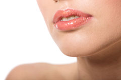 Woman's Lips Stock Photo