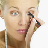 Woman's make up Stock Photo