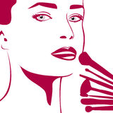Woman's make-up Royalty Free Stock Photo